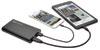 Portable 12,000mAh Dual-Port Mobile Power Bank USB Battery Charger with LED Flashlight -- UPB-12K0-2U