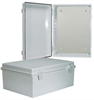 14x10x6 Inch Weatherproof ABS Light-Weight Enclosure with Blank Starboard Mounting Plate -- NBE141006-KIT01 -Image