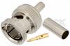 75 Ohm BNC Male Connector Crimp/Solder Attachment for PE-B150, RG180, RG195 -- PE4633 -Image