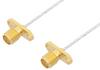 SMA Female 2 Hole Flange to SMA Female 2 Hole Flange Cable 24 Inch Length Using PE-SR047FL Coax -- PE35154-24 -Image