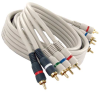 100ft Hi-Resolution Component Video - Stereo Audio RCA RGB - Red White Cable -- 254-6HDIV - Image
