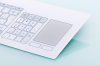 Glass Keyboard with Touch Pad -- TKR-094-Touch - Image