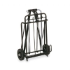 Luggage Cart, 250lb Capacity, 15 x 14 Platform, Black/Chrome -- 14301