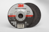 3M Ceramic Depressed-Center Wheel - 36 Grit Very Coarse Grade - 4 1/2 in Diameter - 7/8 in Center Hole - Thickness 1/4 in - 66544 -- 051115-66544 - Image