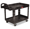 Heavy-Duty Utility Cart, 2-Shelf, 26w x 45d x 33h, Black -- FG452088BLA