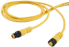 Single Key (M12) Micro-Link Cable Assembly, PUR, Male/Female, 3 pole, 6.6', 22 AWG -- 503K0066L -- View Larger Image