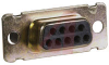 D-Sub Receptacle, Crimp; 9; Female; Copper Alloy; Gold -- 70081097