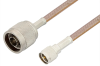 N Male to Mini UHF Male Cable 48 Inch Length Using RG400 Coax -- PE3288-48 -Image