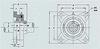 SF / UCF 4-Bolt Flange Units -- SF36