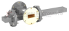 50 dB WR-137 Waveguide Crossguide Coupler with UG-344/U Round Cover Flange and SMA Female Coupled Port from 5.85 GHz to 8.2 GHz in Bronze -- FMWCT1103 -Image