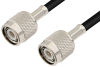 TNC Male to TNC Male Cable 36 Inch Length Using 93 Ohm RG62 Coax -- PE3408-36 -Image