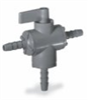 Ball valve, 3-way, 1/2