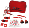 120/277V Breaker Lockout Pouch With Brady Safety Padlocks & Tags -- 99302