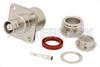 MHV Female Connector Clamp/Solder Attachment 4 Hole Flange For RG213, RG214, RG8, RG9, RG11, RG225, RG393, .718 inch Hole Spacing -- PE44112 -Image