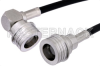 QN Male to QN Male Right Angle Cable 60 Inch Length Using PE-C195 Coax -- PE38486-60 -Image