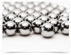 The fine-grain martensitic steel used in Hartford chrome steel balls has high hardness and exceptional surface characteristics. It is an excellent material for chrome steel balls in load-bearing applications, and in applications as diverse as food grinding systems, vibratory finishing, plating baths, linear motion components, and check valves.