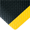 4' x 6' Black/Yellow- Diamond Plate Anti-Fatigue Mat -- MAT290BY