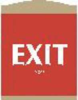 Braille Exit Sign,9-1/8 x 7In,PLSTC,Exit -- 9K616 - Image