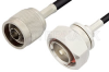 N Male to 7/16 DIN Male Cable 60 Inch Length Using PE-C195 Coax -- PE39143-60 -Image