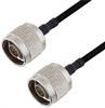 N Male to N Male Cable Assembly using LC141TBJ Coax, 2 FT -- LCCA30097-FT2 -Image