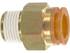 Connector, Pneumatics; 1/2 in.; 3/8 in.; 22.23 mm (Hex.); 9.6 mm (Min.); NTP -- 70070345 - Image