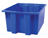 HDPE Storage Tote Box (without Lid), 1.2 cu ft, 17
