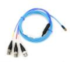 4-conductor, shielded, flexible, Polyurethane cable, 5-ft, 4-socket plug, IP-68 rated to triple splice assembly with (3) 1-ft coaxial cables each with a BNC plug (AC) -- 078W -- View Larger Image