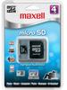Maxell MicroSD Card 4GB Class 2