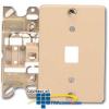 Suttle 6-Conductor Plastic Wallplate with Screw Terminals.. -- 630AC6