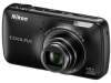Nikon COOLPIX S800c Black 16mp 10x (25-250mm) Optical Zoom 3.5in OLED Touchscreen Digital Camera w/ Wi-Fi -- 26358