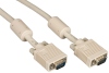 10FT VGA Video Cable with Ferrite Core, Beige, Male/Male -- EVNPS06-0010-MM - Image