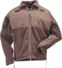 Tactical Fleece Jacket,Dark Brown,4XL -- 6UWA1