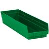 "23 5/8"" x 6 5/8"" x 4"" Green - Plastic Shelf Bin Boxes -- BINPS122G -- View Larger Image"