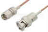 SMA Male to BNC Male Cable 72 Inch Length Using RG178 Coax, RoHS -- PE33258LF-72 -Image