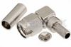 SMA Male Right Angle Connector Crimp/Solder Attachment for PE-B150, RG180, RG195 -- PE4580 -Image