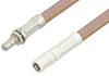 SMB Plug to SMB Jack Bulkhead Cable 36 Inch Length Using RG400 Coax, RoHS -- PE34483LF-36 -- View Larger Image