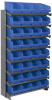 Akro-Mils APRS 400 lb Blue / Green / Red / White / Yellow Gray Powder Coated Steel 16 ga Single Sided Fixed Rack - 36 3/4 in Overall Length - 32 Bins - Bins Included - APRS080 -- APRS080 - Image