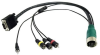 QUICK-CONNECT VGA 3.5 COMPOSITE VIDEO AUDIO CABLE 10 FT -- QC03-VACP-1-10 - Image