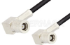 SMB Plug Right Angle to SMB Plug Right Angle Cable 72 Inch Length Using PE-B100 Coax -- PE34465-72 -Image
