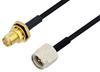Reverse Polarity SMA Female Bulkhead to SMA Male Cable 200 cm Length Using PE-SR405FLJ Coax -- PE3W04623-200CM -Image