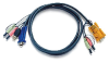 Aten 10-Foot USB KVM Cable with Audio Plugs -- 2L5303U