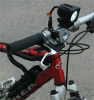 LED Light Emitter Bike Mount Kit - 10 Watt LED - 45'L X 40'W Flood Beam - 2 hour Run Time -- LED10W-1S-BMK