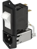 IEC Appliance Inlet C14 or C18 with Filter, Circuit Breaker TA45 -- 5145 - Image