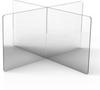 Clear Plastic Interlocking Portable Divider Wall - Image