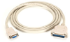AT Serial Printer Null-Modem (CL2) Cable, DB25 Male/DB9 Female, 50-ft. (15.2-m) -- EVMTBPC-0050 - Image