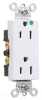 Duplex/Single Receptacle -- 26262-HGW -- View Larger Image