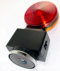 Battery Powered Strobe Light - Heavy Duty Hazard Flashing Lights - RED/AMBER - HDFL-AR -- HDFL-AR