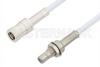 SMB Plug to SMB Jack Bulkhead Cable 24 Inch Length Using RG188 Coax, RoHS -- PE3591LF-24 -Image