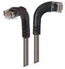 Category 5E LSZH Right Angle Patch Cable, Right Angle Right/Right Angle Down, Gray, 7.0 ft -- TRD815ZRA10GRY-7 -- View Larger Image