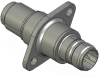 Honeywell Harsh Application Aerospace Proximity Sensor, HAPS Series, Inline cylindrical flanged form factor, 2,50 mm/3,50 range, 3-wire current sinking output near/fault/far, EN2997Y10803MN terminatio -- 1PCFD3ACNN-000 -Image